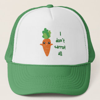 Funny I don't Carrot All Food Pun Humor Cartoon Trucker Hat