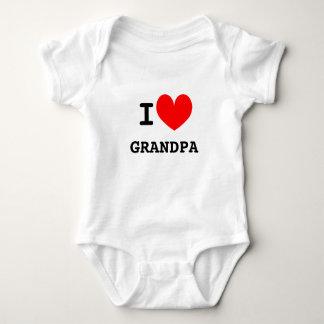 Funny I heart grandpa infant bodysuit | Kids joke