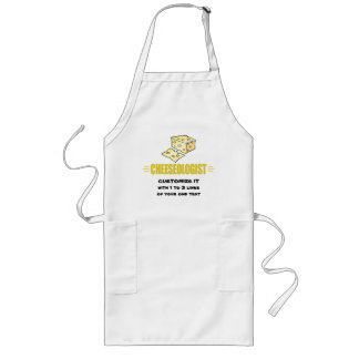 Funny I Love Cheese Long Apron