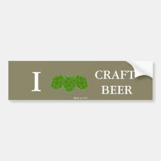 Funny I Love Craft Beer Bumper Sticker