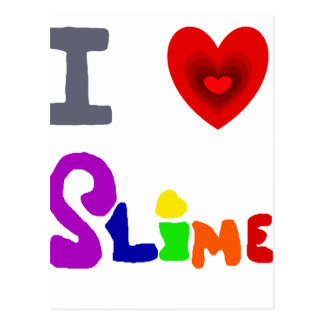 Funny I Love Slime Art Postcard