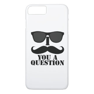 Funny I Mustache You A Question Black Sunglasses iPhone 7 Plus Case