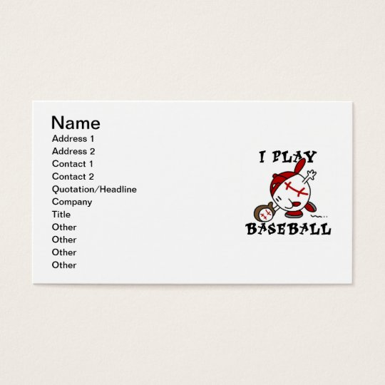 Funny I Play Baseball Tshirts and Gifts Business Card