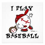 Funny I Play Baseball Tshirts and Gifts Custom Invitation