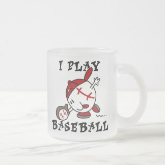 Funny I Play Baseball Tshirts and Gifts Frosted Glass Mug