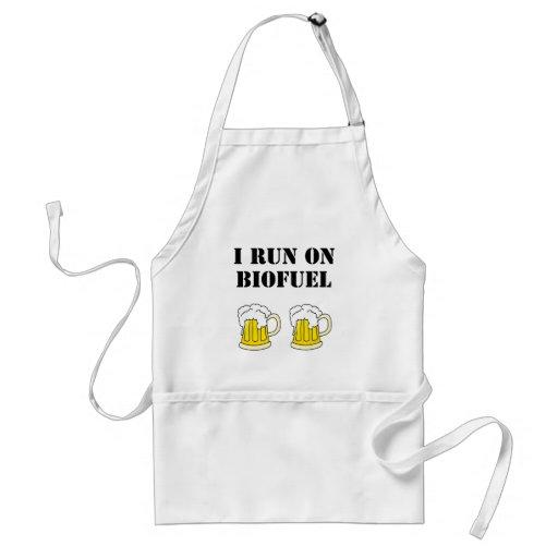 "Funny: ""I run on biofuel"" Apron"