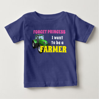 "Funny  ""I Want To Be a Farmer"" Baby T-Shirt"