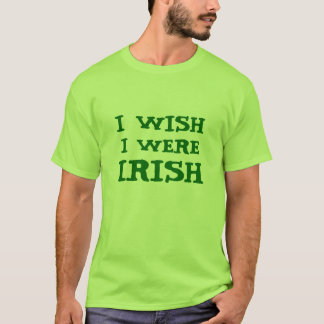 Funny I Wish I Were Irish Lime Green Tee