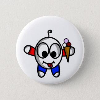 funny ice cream dude 6 cm round badge