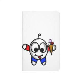 funny ice cream dude journal