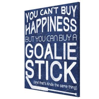 Funny Ice Hockey Goalie Artwork Canvas Print
