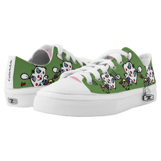 Funny Ice Skating Rabbit Low Tops