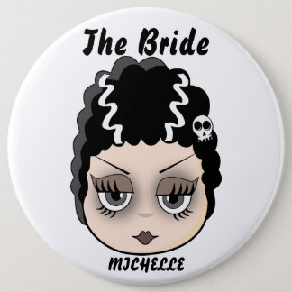 Funny iconic bride 6 cm round badge
