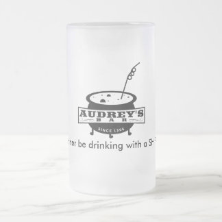 "Funny ""I'd rather be drinking with a SHIFTER"" Frosted Glass Mug"