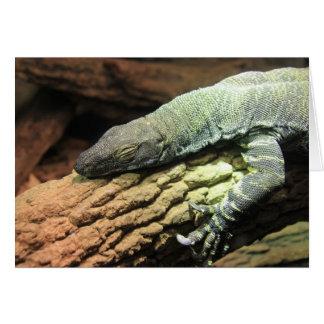 Funny Iguana, Over the Hill birthday card