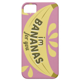 Funny illustration expression I'm bananas for you iPhone 5 Cases