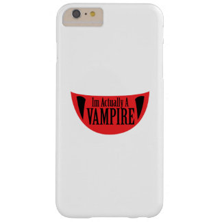 Funny Im Actually A Vampire Halloween Meme Funny Barely There iPhone 6 Plus Case