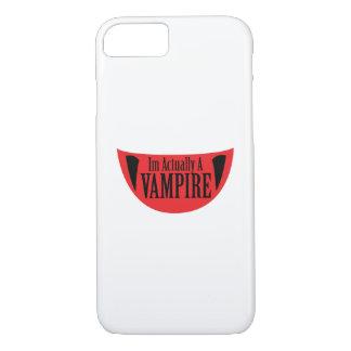 Funny Im Actually A Vampire Halloween Meme Funny iPhone 8/7 Case