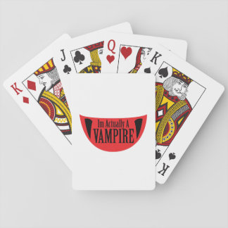 Funny Im Actually A Vampire Halloween Meme Funny Playing Cards