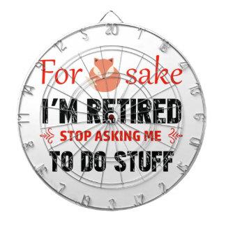 Funny I'm retired designs Dartboard With Darts