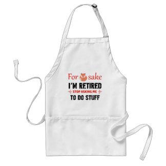 Funny I'm retired designs Standard Apron