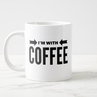 """Funny """"I'm With Coffee"""" Jumbo Mug 20 oz."""