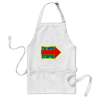 Funny I'm With Stupid T-shirts Gifts Standard Apron