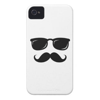 Funny incognito smiley mustache trendy hipster iPhone 4 cases