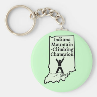 Funny Indiana Mountain Climbing Champion Key Ring