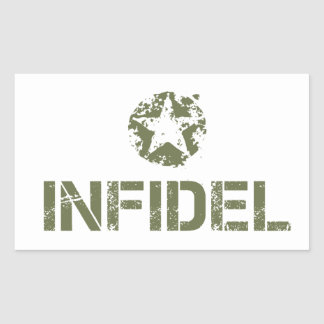 Funny Infidel Rectangular Sticker