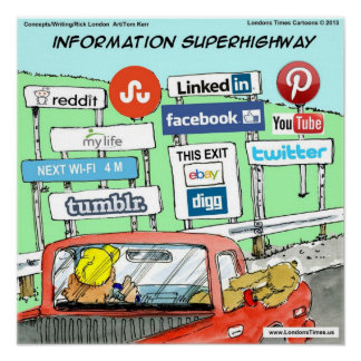 Funny Information Superhighway Poster