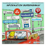 Funny Information Superhighway Poster Posters