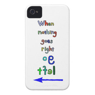 Funny & Inspirational Go Left Quote iPhone case iPhone 4 Case-Mate Case