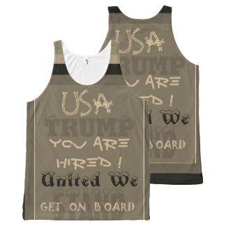 Funny inspired USA you are hired United We Trump All-Over Print Singlet