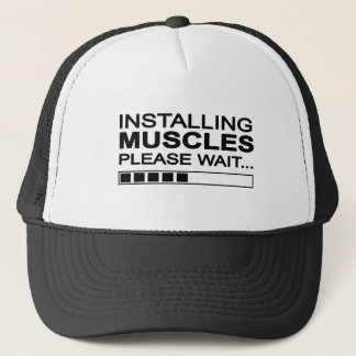 Funny Installing Muscles Trucker Hat