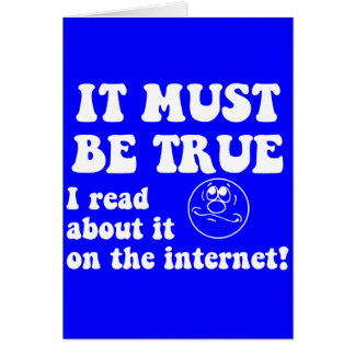 Funny internet greeting card