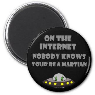 Funny Internet Martian Cartoon Magnet