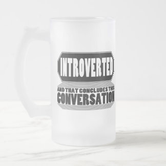 Funny Introvert Frosted Beer Mug