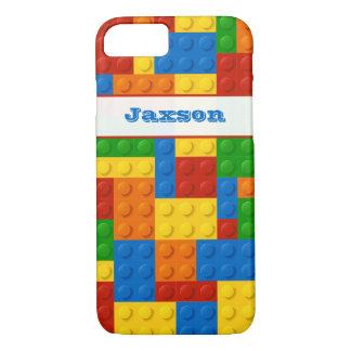 Funny iPhone 7 Case | FAUX Building Blocks | Name