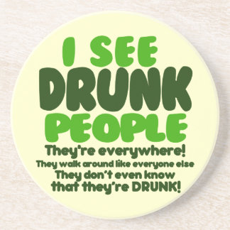 Funny Irish Beer Drinking Coaster