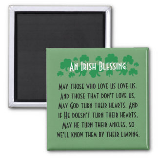 Funny Irish blessing. Fridge art magnet