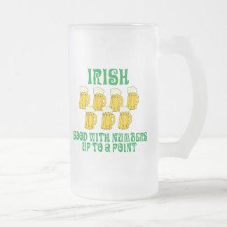 Funny Irish Drinking Frosted Glass Mug