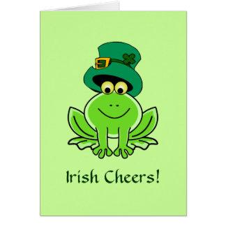 Funny Irish Frog Leprechaun Hat Card