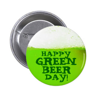 Funny Irish Happy Green Beer Day Button