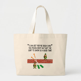 Funny Irish leprechauns Bags
