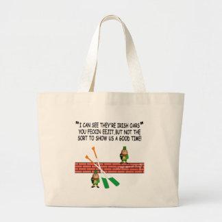 Funny Irish leprechauns Jumbo Tote Bag