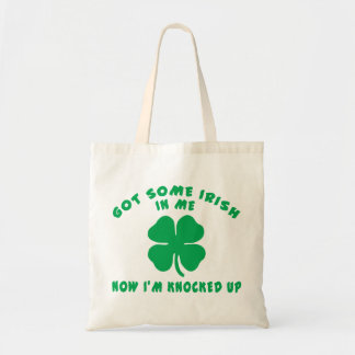 Funny Irish Pregnant Maternity Gift Budget Tote Bag