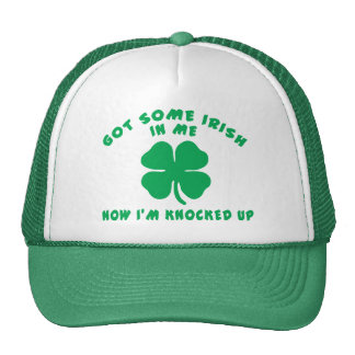 Funny Irish Pregnant Maternity Gift Mesh Hats