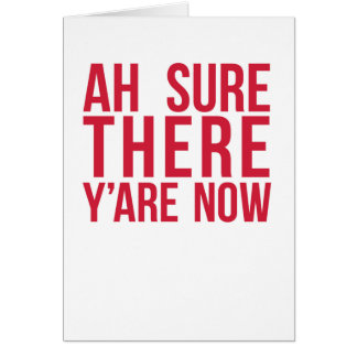 Funny Irish Saying Card