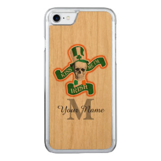 Funny Irish skull monogrammed Carved iPhone 7 Case